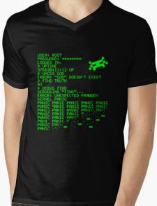 Kernel Panic! - green Mens V-Neck T-Shirt