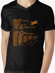 Kernel Panic! - orange Mens V-Neck T-Shirt