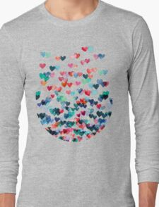 Heart Connections - Watercolor Painting Long Sleeve T-Shirt