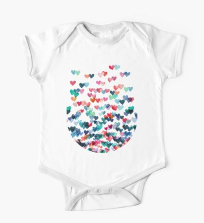 Heart Connections - Watercolor Painting One Piece - Short Sleeve