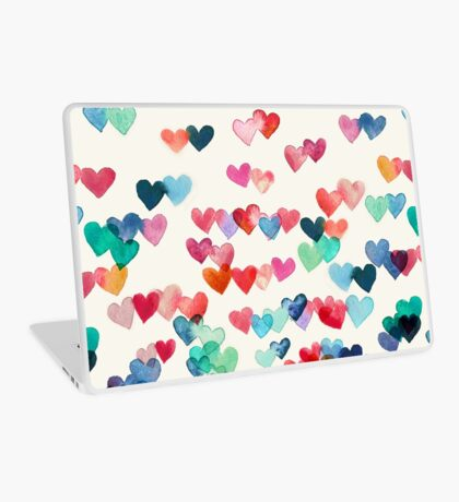 Heart Connections - Watercolor Painting Laptop Skin