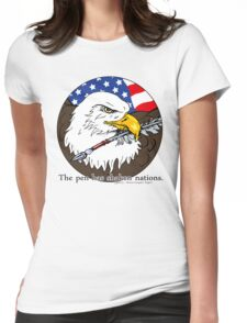 The pen has shaken nations. Womens Fitted T-Shirt