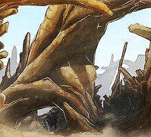Desert Landscape by deeviousgenius