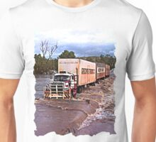 Truck crossing Ord River, West Australia  in Flood Unisex T-Shirt