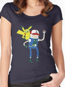 Pokemon Time Women's Fitted Scoop T-Shirt