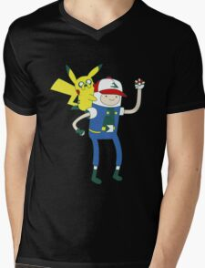 Pokemon Time Mens V-Neck T-Shirt
