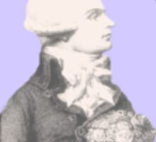 Robespierre and flowers Sticker