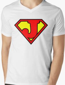 Super J Mens V-Neck T-Shirt