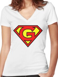 Super G Women's Fitted V-Neck T-Shirt