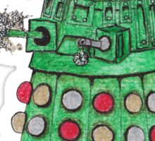 Christmas Dalek Sticker