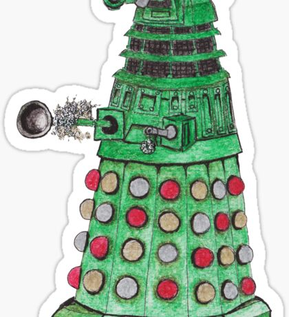 Christmas Dalek Sticker