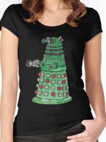 Christmas Dalek Women's Fitted Scoop T-Shirt