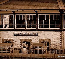 Llangollen Station Signal Box by Stan Owen