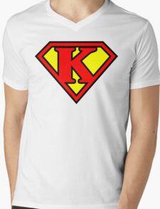 Super K Mens V-Neck T-Shirt