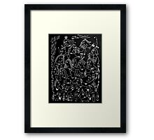 Night Dogs and Night Fish Framed Print