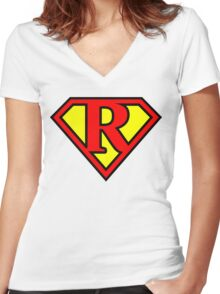 Super R Women's Fitted V-Neck T-Shirt