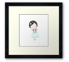 Fairy love heart Framed Print
