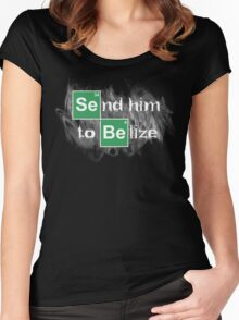 Send him to Belize Women's Fitted Scoop T-Shirt