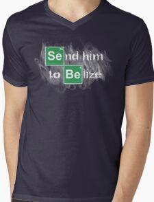 Send him to Belize Mens V-Neck T-Shirt