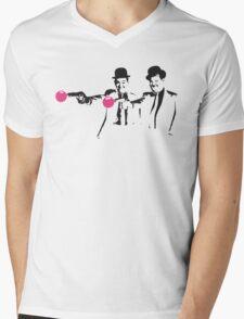 Laurel & Hardy Mashup Mens V-Neck T-Shirt