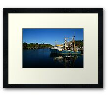 Fishing Boats On The Tweed River Framed Print