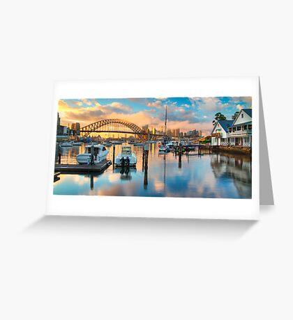 Sunrise over Lavender Bay HDR 1 Greeting Card