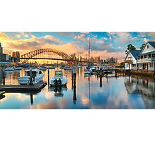 Sunrise over Lavender Bay HDR 1 Photographic Print