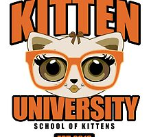 Kitten University - Orange by Adamzworld
