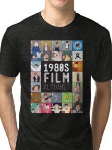 1980s Film Alphabet Tee Tri-blend T-Shirt