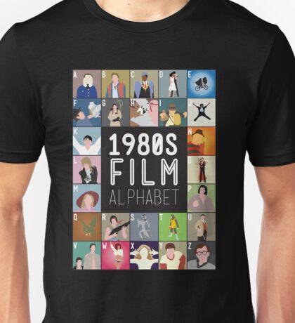 1980s Film Alphabet Tee Unisex T-Shirt