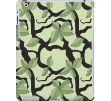 Leaves and twigs pattern in green tones iPad Case/Skin