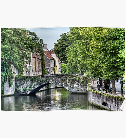 Meestraat Bridge in Bruges Poster