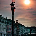 Street Lights of Venice by David J Baster