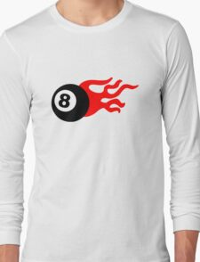 Eight Ball and Flames Long Sleeve T-Shirt