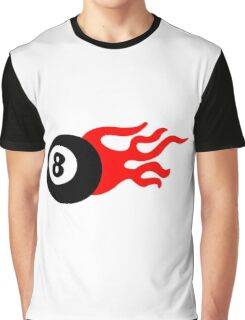 Eight Ball and Flames Graphic T-Shirt