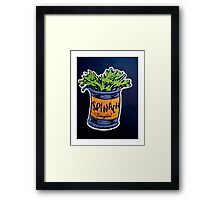 Spinach superfood!! Framed Print