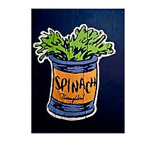 Spinach superfood!! Photographic Print