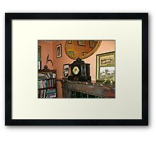 Carriage Clock On Mantlepiece Framed Print