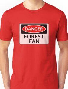 DANGER NOTTINGHAM FOREST, FOREST FAN, FOOTBALL FUNNY FAKE SAFETY SIGN Unisex T-Shirt
