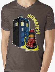 Disgraceful Dalek Mens V-Neck T-Shirt