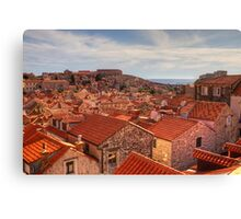 The Rooftops of Dubrovnik Canvas Print
