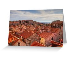 The Rooftops of Dubrovnik Greeting Card