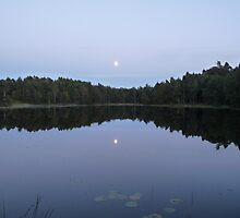 August Moon Mirrored in the Mere by HELUA