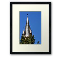 Evangelical Cathedral Bell Tower from Sibiu, Transylvania Framed Print