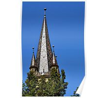Evangelical Cathedral Bell Tower from Sibiu, Transylvania Poster