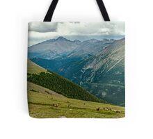 Longs Peak Elk Herd Tote Bag