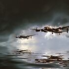 Lancaster Bomber - Low Level by J Biggadike