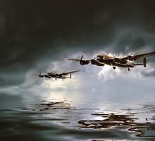 Lancaster Bomber - Low Level by J Biggadike