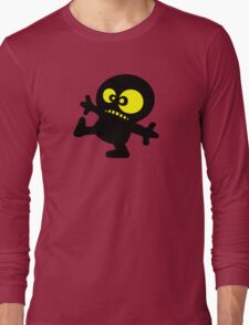 man cartoon fun funny swag boy Long Sleeve T-Shirt