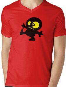 man cartoon fun funny swag boy Mens V-Neck T-Shirt